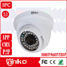 CCTV ONVIF Plastic Indoor Dome 720P Video Surveillance IP Camera IR Distance 30m with free P2P CMS