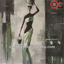 Modern abstract human figure african women oil painting