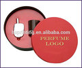 Caja de empaquetado redondo para perfume de lujo, negro, personalizada