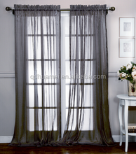 100% polyester brand name window curtain style