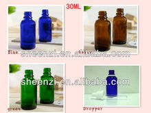 Tornillo de la tapa de cristal del aceite esencial de botella/de vidrio botella de aceite esencial/aceite esencial botella