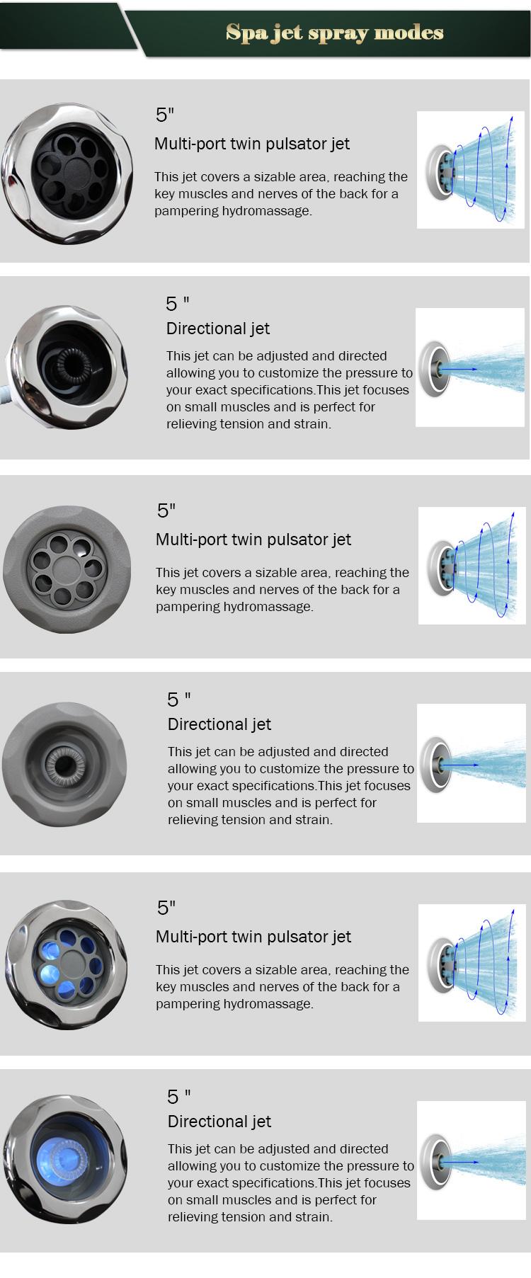 Water Jet Hydro Jet Spa Bathtub Parts Air Jets - Buy Hydro Jet Spa ...