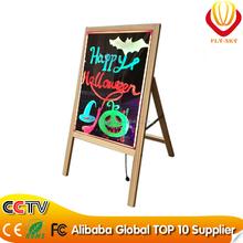 new innovation on china market wooden led writing board,led writing board with woode stand professional manufacturer
