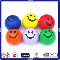 promotional lovely pu foam smiley face stress ball
