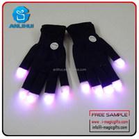 7 Mode Flashing led Finger Gloves Light Up Birthday party
