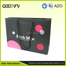 2015 New Promotional Eco friendly customized coated art paper bag, shopping bag, color customized