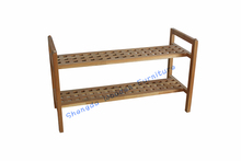 SD-3001 Chinese walnut wood with oiled cheap home furniture shoes rack