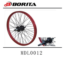 20inch Colored aluminum bicycle alloy wheel rims and hub Staineless Steel Spoke Wheels