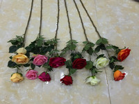 artificial rose flower single flowers rose wholesale high quality rose for wedding decor