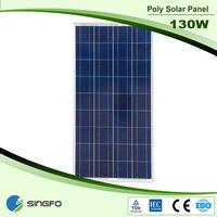 Poly Crystal Silicon 130W Solar Panel Portable