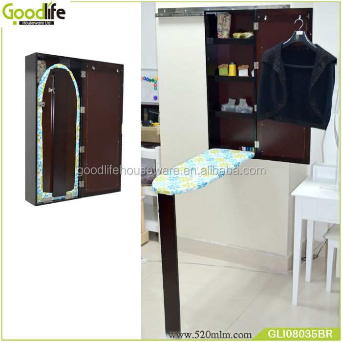 GLI08035space saving dressing mirror +ironing board cabinet