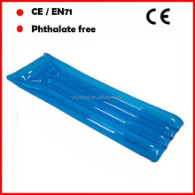 Transparent blue color inflatable air mattress/air mattress bed/cheap air mattress