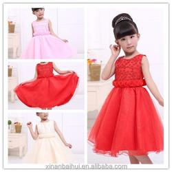 Children baby vest skirt girls dress exquisite small flowers princess dress noble dresses 100-140