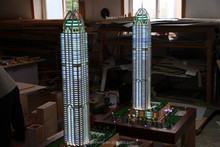 Iraq Naza tower scale model with perfect lighting systerm