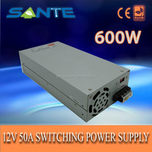 Customized 12V 50A 176-240VAC 600w switching power supply