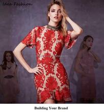 wholesale latest fashion dresses new design customize lady dress women fashion dress