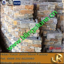 Natural Decorative Rusty Quartz Cultured Stone Wall Cladding