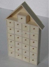 2015 latest products cheap price wooden storage tree box many wooden drawers