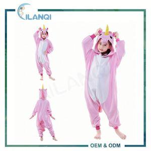 ALQ-C005 сшитое партия костюмы ребенка единорог onesie пижамы