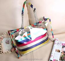 manufacturer promotion gift fashion transparent ladies pvc branch handbag