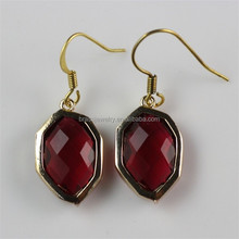 New Design Fashion Women Brass Jewelry Gold Plated Big Beautiful Drop Earrings