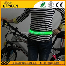 Newest 2015 USB rechargeable led waist sport belts men