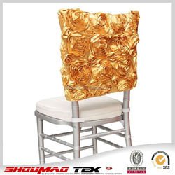 wholesale fancy chair cover with flower