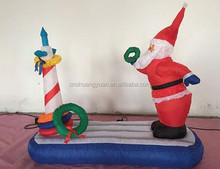 Outdoor inflatableholiday christmas floating santa clause