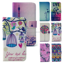 new designs different printing lovely lady wallet leather phone case for samsung galaxy s6
