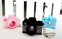 MCH029 12pcs/lot Digital CAMERA with LENS Change and FLASH Sound & Light LED Camera KEYCHAIN New!
