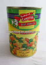 Canned mixed vegetables/bulk canned vegetables/mixed vegetable tin