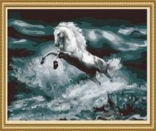 40*50cm factory price sea landscape oil painting, canvas oil painting