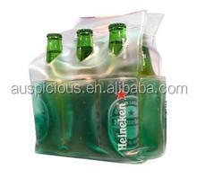 Soft bottle carrier handle plastic PVC wine bag