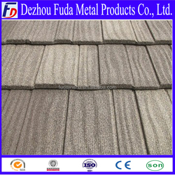stone chips coated steel tile /building material metal roofing price
