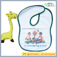 Plain White in Baby Bibs for Promotional Gift