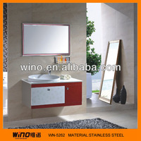 2013 New Design Homebase White and red Bathroom Vanity Cabinets Made In China