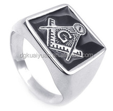 Wholesale stainless steel masonic design male ring