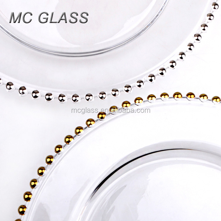 Wholesale Cheap Fancy Decoration Gold Silver Beaded Glass Wedding ...