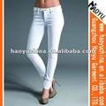 Dril de algodón de moda de la marca skinny jeans mujer desgaste( hy5632)