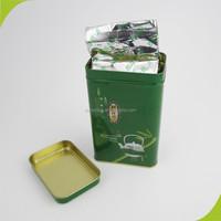 Chinese green tea in tin