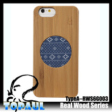 Mobile accessories laser engraving custom design Plastic wooden cell phone case for iphone 6