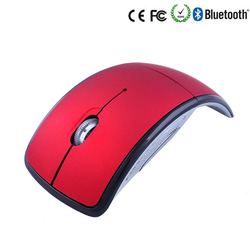 Fashion Comfort 2.4G Snap-in Transceiver Foldable Arc Cordless Mice USB Folding Mouse Wireless Mouse