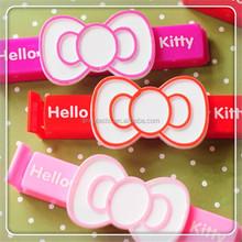 New product of 2015 plastic food sealer bag clips Lovely cat plastic bag clips