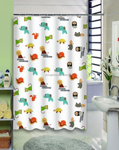 Eco-friendly non-toxic EVA colorful printing waterproof anti-bacterial shower curtain bathroom curtain