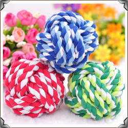 New pet products knot rope pet chew toy