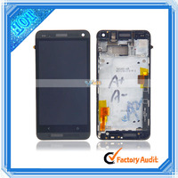 New 801e International Edition LCD Touch Screen Digitizer Assembly For HTC One M7 With Frame Black (82017899)