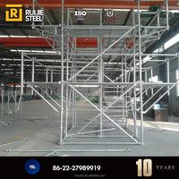 Q235 Steel Cuplock Scaffolding High loading capacity Concrete Supporting cuplock system for cement building construction