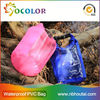 colorful 500d Pvc Tarpaulin Waterproof Bag with shoulder straps for camping and swimsuit