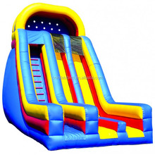 dry slide/inflatable slide/Inflatable Dry Slide 22'Dual Lane Slide with Front Exits