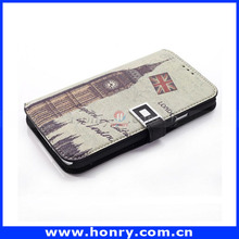 Wholesale England Style Wallet Leather case for Galaxy S5, Cover case for Samsung S5